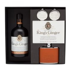 Berry Bros The King's Ginger Hipflask Gift Set From HarveyNichols.com