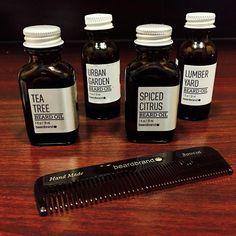 Stop by for some beard oil by @beardbrand smooth and nourish your facial hair. #beardoil #beardbrand  #Seattlebarbers  #capellisgb
