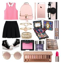 """Sin título #238"" by frichu on Polyvore featuring moda, Alexander Wang, MICHAEL Michael Kors, MANGO, Kate Spade, Accessorize, Kendra Scott, NARS Cosmetics y Urban Decay"