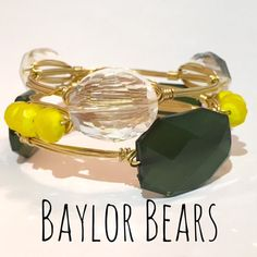 Baylor University Bears Game Day Wire Wrapped Bangles Set