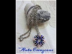 TUTORIAL MODULO TIMONE, perline - YouTube Pendant Jewelry, Beaded Jewelry, Beaded Necklace, Seed Bead Earrings, Seed Beads, Beading Tutorials, Bead Weaving, Round Beads, Jewelry Making