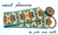 Julie Ann Smith Designs (SWEET PLEASURES) Odd Count Peyote Beaded Bracelet Pattern