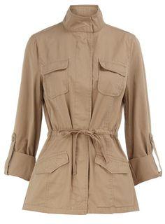 Stone safari jacket.