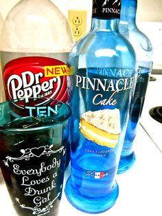 Snickerdoodle Delite 2 parts Dr Pepper 10 1 part Cake Vodka