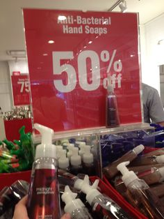 Hand soaps 50% off
