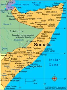 map of somalia cities - Google Search