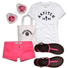 Abercrombie & Fitch (Pink, White & Black) - Polyvore
