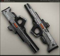 LAS-Enfield-primary by peterku on DeviantArt. Looks like a destiny weapon to me Sci Fi Weapons, Weapon Concept Art, Fantasy Weapons, Weapons Guns, Guns And Ammo, Carros Lamborghini, Future Weapons, Fire Powers, Cool Guns