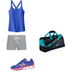 Untitled #347 by esmama on Polyvore featuring polyvore fashion style James Perse Athleta New Balance NIKE