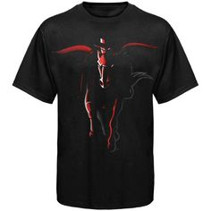 low priced eb1b5 40c86 College Texas Tech Red Raiders Black Blackout T-shirt Raiders T Shirt, Texas  Tech