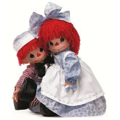 "The Doll Maker Linda Rick Precious Moments Raggedy Ann & Andy 26"" Set"