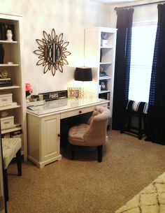 TiffanyD: New Office REVEAL! …Decor on a Budget ikea liatorp desk | Style and Design for a Family Home