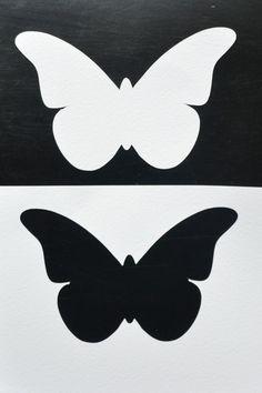 Positive and Negative Butterfly Shape