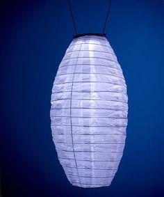 White Soji™ Solar Lantern Pod #zulily #zulilyfinds