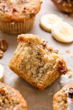 Maple Pecan Banana Muffins (Vegan)