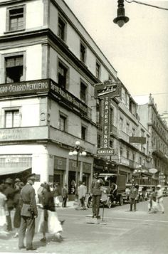 La esquina de Bolivar y Madero en los maravillosos años veintes