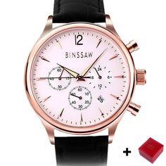 BINSSAW New Fashion Men's Big Dial Designer Quartz Watch