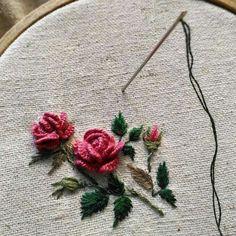 Rose broderie