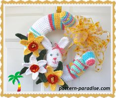 Easter Wreath FREE CROCHET PATTERN