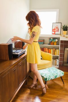 me if i were an adorable redhead with any sense of interior decorating, and didn't always look miserable and sick.