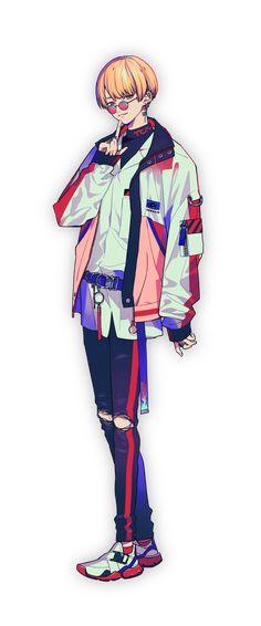 燕夏準 | CHARACTER | Paradox Live(パラライ)公式サイト Character Art, Character Design, Manga Boy, Anime Outfits, Cyberpunk, Anime Guys, Art Reference, Anime Characters, Live