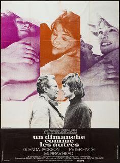 Sunday Bloody Sunday (John Schlesinger, 1971) French grande design by Jouineau Bourduge