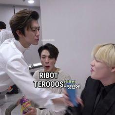 Memes Funny Faces, Funny Kpop Memes, Funny Boy, Nct Life, Cartoon Jokes, Good Jokes, Korea, Nct Dream, Boy Groups