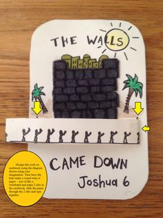 Joshua Walls of Jericho Bible Craft - Marchers spin (march) around the walls… This craft will help you prepare your Sunday school lesson on Joshua 6:1-27 on the Bible story of Joshua and the wall of Jericho.
