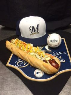 """A """"Polish Boy"""" Sandwich for the Indians series! #Brewers"""