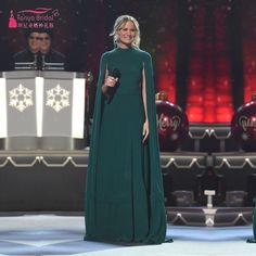 Find More Celebrity-Inspired Dresses Information about 2017 Arabic Vestidos Long Celebrity Dresses Dark Green Evening Dress with Cape Red Carpet Dresses,High Quality dress apple,China dress code dresses Suppliers, Cheap dress gallery from Tanya Bridal Store on Aliexpress.com