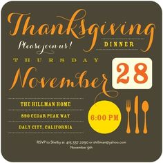 Swanky Thanks - Thanksgiving Party Invitations - Picturebook - Dark Gray - Gray : Front