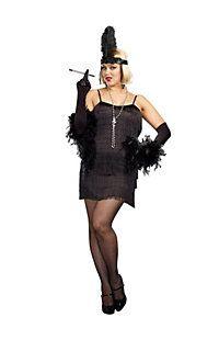 9055313be2 Women s Sexy Black Flapper Plus Size Costume Costume Craze