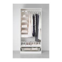PAX Kleiderschrank - 100x60x201 cm, Scharnier, sanft schließend - IKEA
