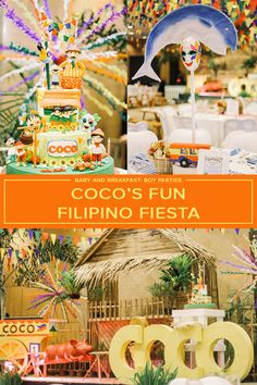 Coco's Fun-Filled Pinoy Fiesta Fiesta Theme Party, Party Themes, Paskong Pinoy, Pink Party Punches, Small Birthday Parties, Disco Party Decorations, Baby Boy Birthday, Christmas Party Games, Party Activities