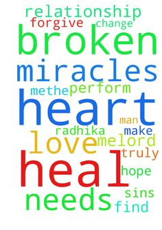Prayer Request -  Lord I pray that you can help my broken relationship. I hope that you can heal Radhika heart and find the love that she truly has for me.Lord, I pray that you change me and make methe man that she needs. Only you lord can perform miracles. Only you can heal her broken heart. Lord I ask that you forgive me for all of my sins.  Posted at: https://prayerrequest.com/t/5mp #pray #prayer #request #prayerrequest