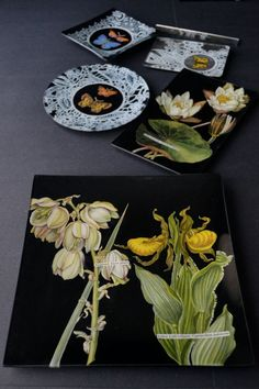 botanicals on black from insitu decorative arts