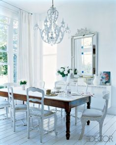 cottage and vine: White Dining Chairs