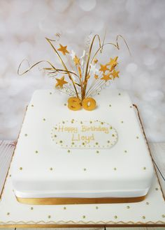 A Lovely Classic Style 80th Birthday Cake Classicbirthdaycake