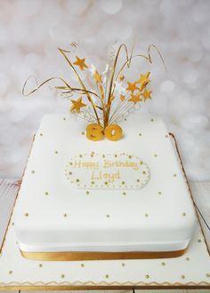 Black And Cream 80th Birthday Cake For Men 80th Birthday Cake