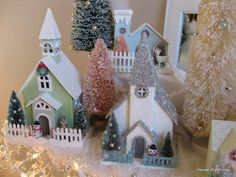 House of Whimsy: 'Before and After' Glitter Houses AND...a fun new way to store your glitter.
