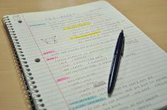 Yo siempre tomo apuntes en la hora de estudiar. Tambien, yo hablo con Viet-Hai.