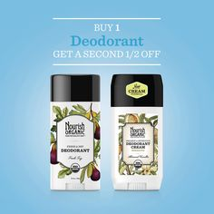 On the First Day Nourish Organic gave to me a half-priced deodorant with purchase of one at regular price! Valid for the next 18 hours! Shop now!