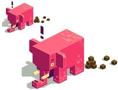 Pixel elephant