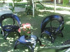 used tire chairs