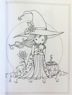Whimsical World Coloring Book: Fairies, Mermaids, Witches, Angels and More… Fall Coloring Pages, Halloween Coloring Pages, Fairy Coloring, Doodle Coloring, Adult Coloring Pages, Coloring Books, Halloween Embroidery, Free Printable Coloring Pages, Digi Stamps