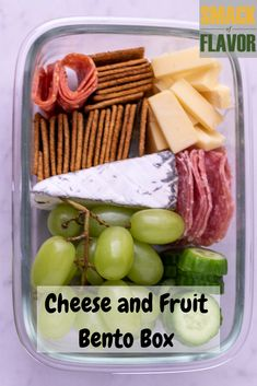 A fruit, meat and cheese bento box is perfect for lunches. Easy to make for adults work lunch or a kids school lunch. Use up nuts, crackers, fresh fruit and cheese to make a meal prep cheese plate! These are a great make ahead lunch for the week. Easy Lunches For Work, Work Meals, Make Ahead Lunches, Prepped Lunches, Easy Work Lunch Ideas, Cold Lunch Ideas, Snacks For Work, Cold Lunches, Lunch Snacks