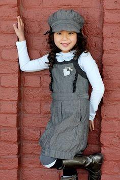 fall, girl:  Jottum Saartji Charcoal Heart Jumper  (black or gray shirt instead of white!)