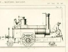 1871 Armengaud Locomotive Gravure Ancienne Brevet Publication Industrielle Technique Paris Train Locomotive Chemin de fer de Lyon France de la boutique sofrenchvintage sur Etsy
