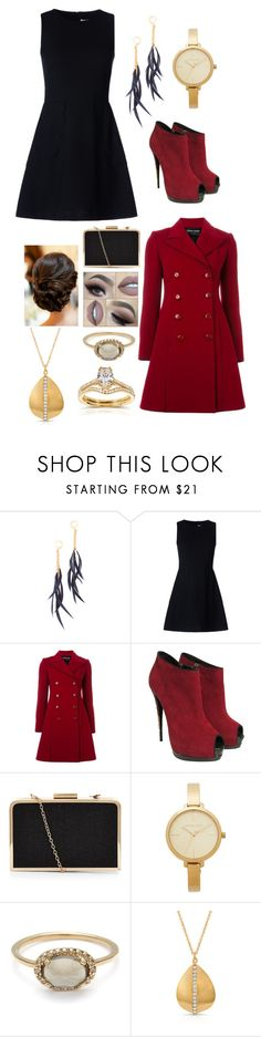 """Day At Work"" by lillian-snider ❤ liked on Polyvore featuring Shashi, RED Valentino, Emporio Armani, Giuseppe Zanotti, Michael Kors, Anne Sisteron and Annello"