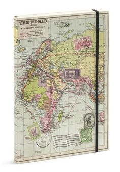 Cargo for It Map Travel Journal, #ModCloth